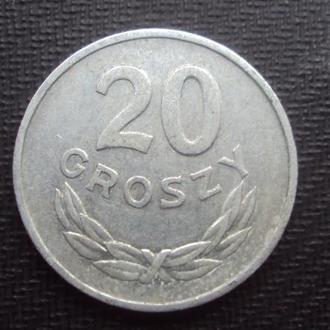 Польша 20 грошей. 1966г.