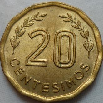 Уругвай 20 сентесимо 1978 состояние