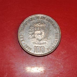 100 боливар 1998 г Венесуэла