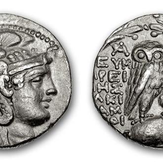 (А)3259 - АТТИКА, Афины (220—83 до н.э.) AR Тетрадрахма