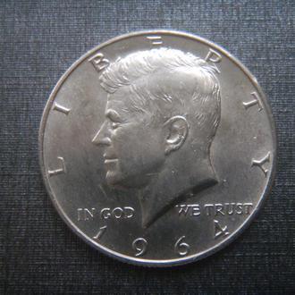 США 1/2 доллара 1964 D Серебро