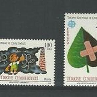 Турция 1986 EUROPA CEPT Охрана окружающей среды