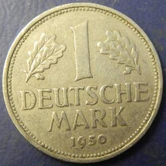 1 марка 1950 F ФРН