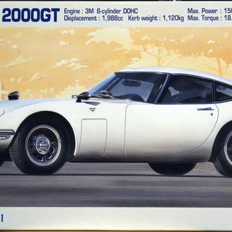 Сборная модель автомобиля Toyota 2000GT Early Type (1967)  1:24 Hasegawa