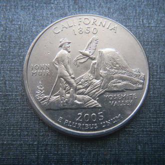 США 25 центов Калифорния P 2005 (RL206)