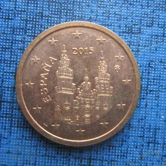 монета 2 евроцента Испания 2015