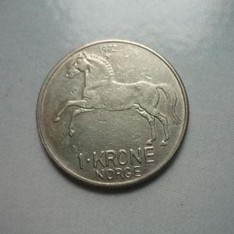 Норвегия 1 крона 1972 фауна