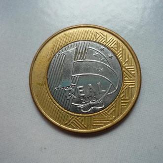 Бразилия 1 реал 2006 биметалл