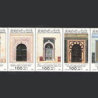 Ливия - архитектура 1985 - Michel Nr. 1591-95 **
