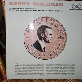 GERRY MULLIGAN QUARTET Оригинальная пластинка пр-ва США классика джаза!