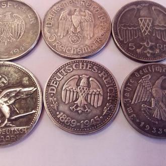 Монеты с Гитлером.