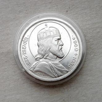5 пенго 1938 ВЕНГРИЯ СВ. ИШТВАН серебро СОХРАН UNC