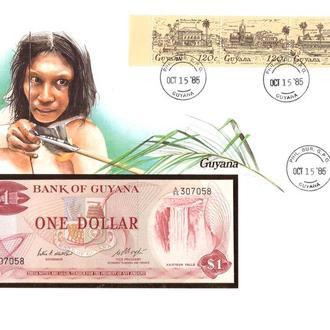 Гаяна ХМК 1985 г - 1 доллар - 2 скана