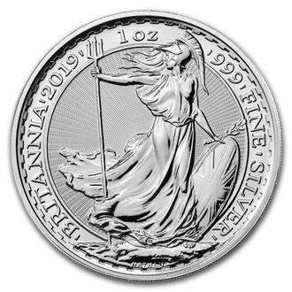 2019 г - 2 фунта Великобритания,капсула,унция серебра