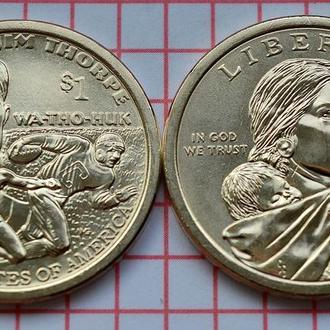 "США 1 доллар 2018 - Джим Торп ""Уа-То-Хак"""