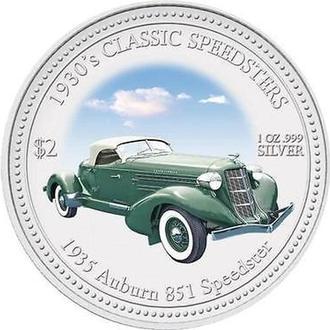 2 доллара 2006 г Классические гоночные авто 1930-х годов 1935 AUBURN 851 SPEEDSTER