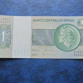 Банкнота 1 крузейро Бразилия 1980 UNC пресс