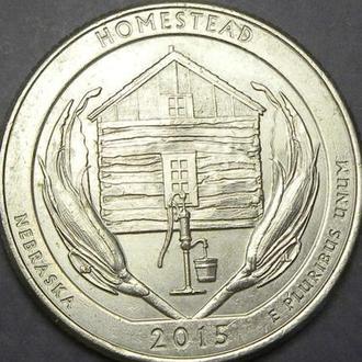 25 центів США 2015 P Гомстед