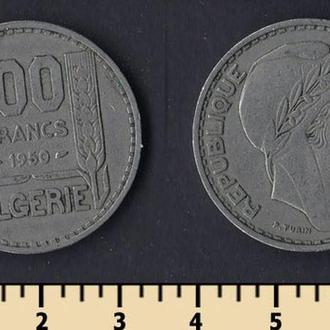 ФРАНЦУЗСКИЙ АЛЖИР 100 ФРАНКОВ 1950