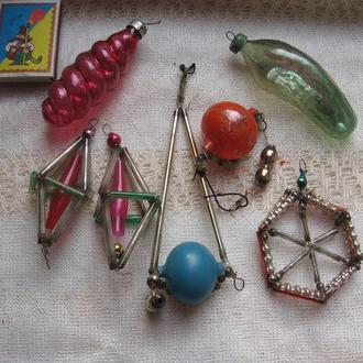 Игрушки елочные старинные стеклярус (СССР)