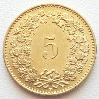 Швейцария 5 раппен, 2011