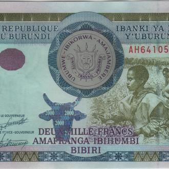 Бурунди 2000 франков 01.12.2008 в UNC