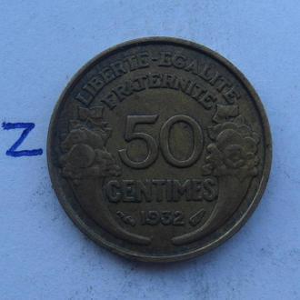 Франция, 50 сантимов 1932 года.