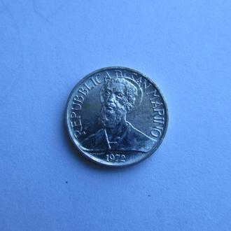 1 лира Сан Марино. Италия 1972