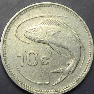 10 центів 1995 Мальта