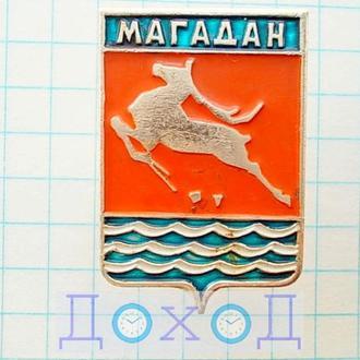 Значок Магадан Россия герб №1
