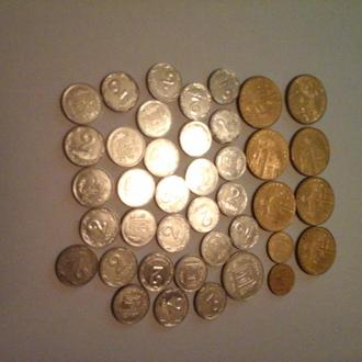 Монеты Украины 2005 года 40 штук