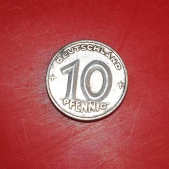 10 пфенингов 1950 г ГДР