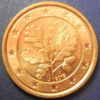 1 євроцент 2015 J Німеччини рідкісний