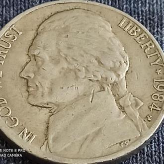 США, 5 центов 1984
