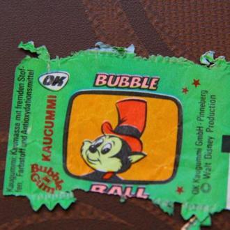 вкладыш этикетка жевательной резинки OK ( Bubble Ball )