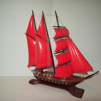 Модель сувенир Алые паруса парусник фрегат бригантина корабль СССР