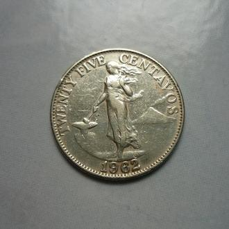 Филиппины 25 сентаво 1962
