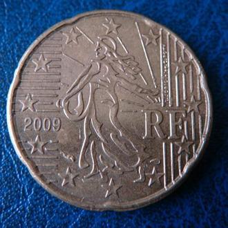 Франция 20 центов 2009