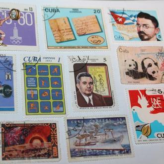 Куба CUBA марки разных годов разная тематика
