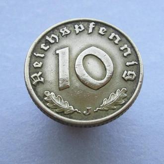10 пфенингов 1938г.J.Третий Рейх.