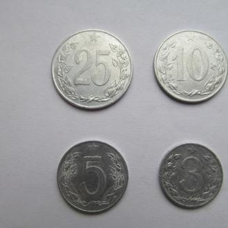 Чехословакия  лот  монет  50-х  годов