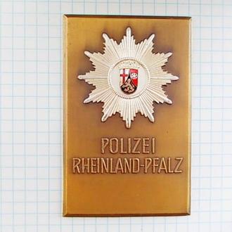 №165 Жетон POLIZEI RHEINLAND - PFALZ Плакетка Полиция земли Рейнланд - Пфальц Германия