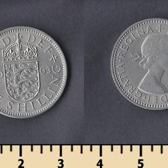 Великобритания 1 шиллинг 1963