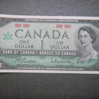 Канада 1 доллар 1967 UNC