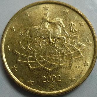 Италия  50 евроцентов 2002