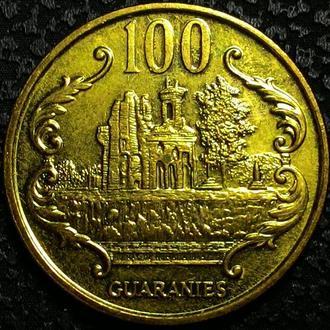 Парагвай 100 гуарани 1995 год UNC!!!! ОТЛИЧНАЯ!!!!!!!!!!