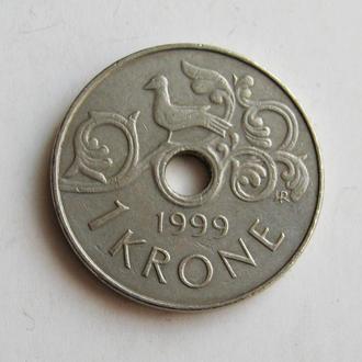 1 КРОНА = 1999 г. = НОРВЕГИЯ #