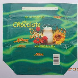 "Обёртка от шоколада ""Milk chocolate like"" 100g (made by Millano Ltd., Польша)"