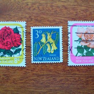 Новая Зеландия.1960/75гг. Флора. Цветы. Подборка.