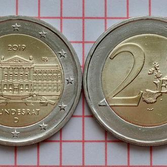 Германия 2 евро, 2019 70 лет Бундесрату